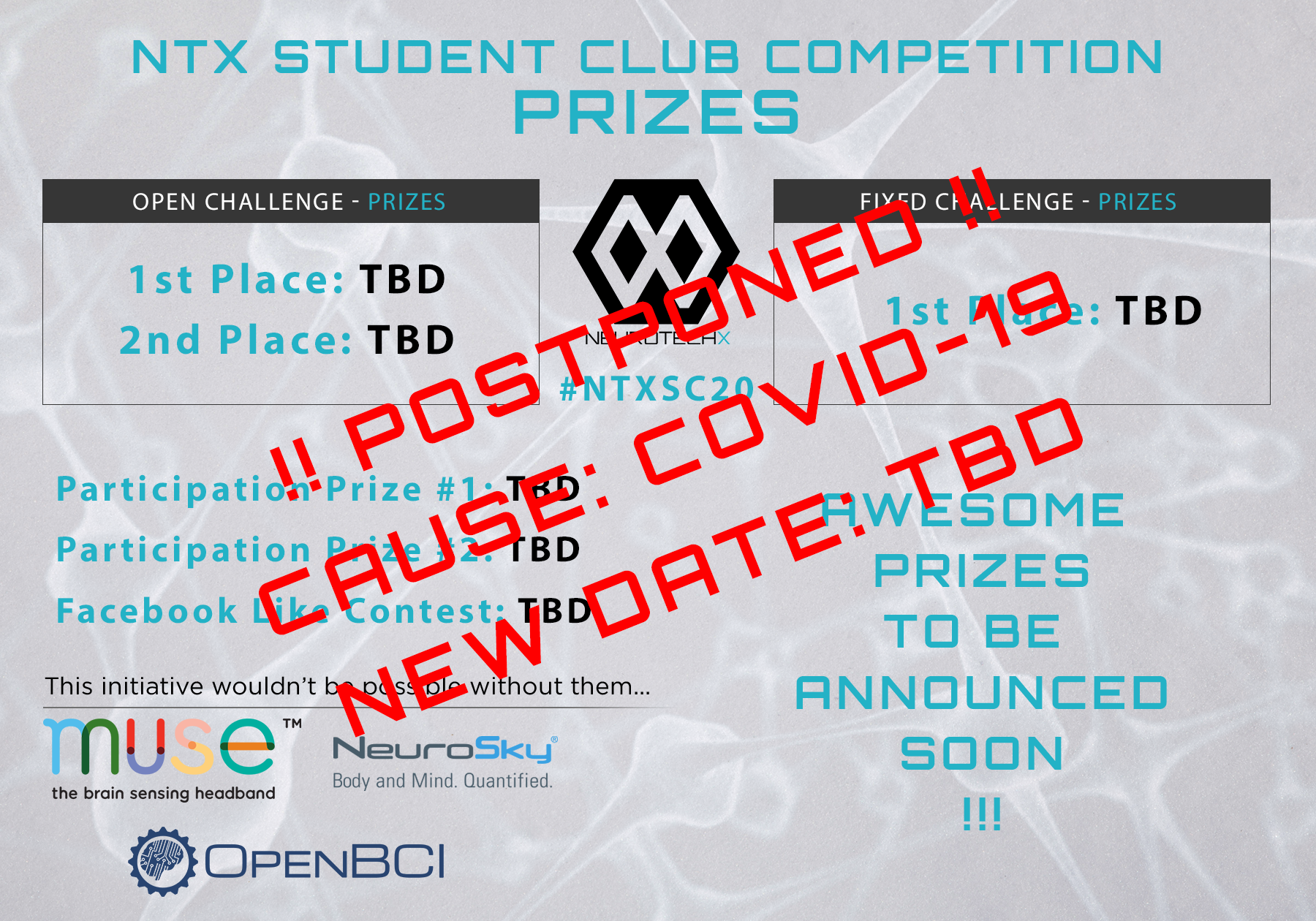 NTX SC Competition Postponed!